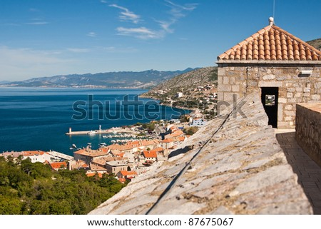 the coast of city Senj - Croatia - stock photo