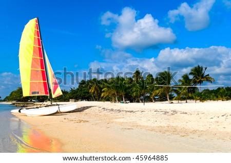 the coast of Cuba - stock photo