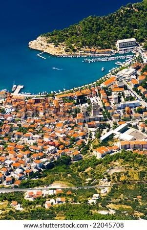 the coast of Makarska - Croatia - stock photo