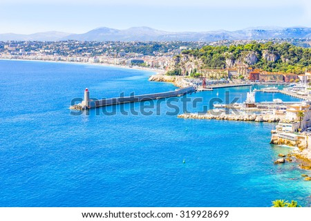 The coast of Nice, France - stock photo