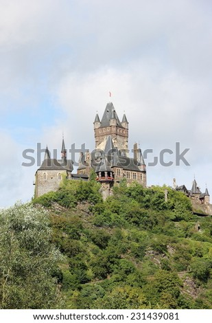 The Cochem Imperial Castle (Reichsburg), Germany. - stock photo