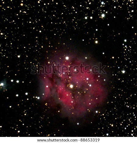 The Cocoon Nebula in the constellation Cygnus - stock photo