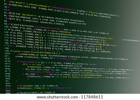The code for website design - stock photo