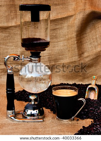 The Coffee Siphon - stock photo