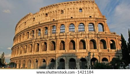 The coliseum, Italian Landmark - stock photo