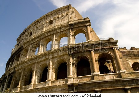 The Coliseum Rome Italy. - stock photo