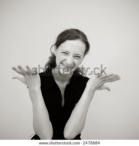 The collection of emotions 9 - stock photo