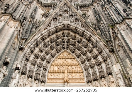 The Cologne cathedral - stock photo