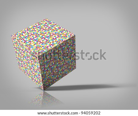 The color cube - stock photo