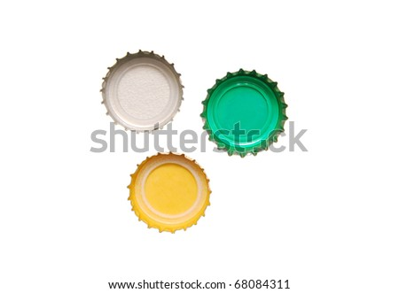 the color of beer caps - stock photo
