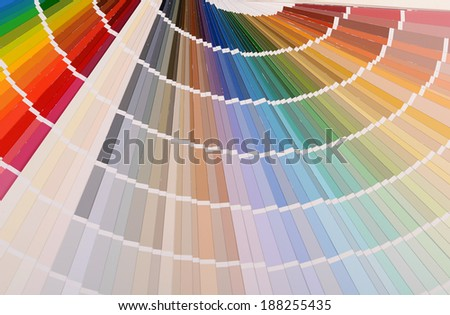 The color palette a background close up - stock photo