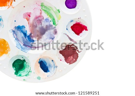 The color palette used. - stock photo