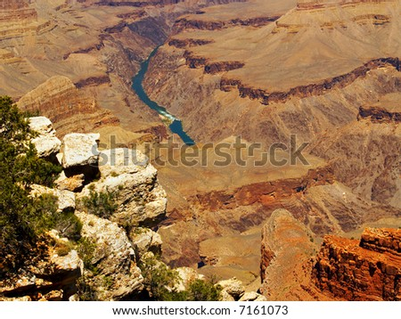 The Colorado River in the Grand Canyon as seen from Mohave Point