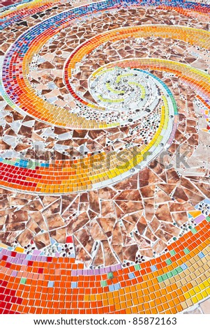 The Colorful ceramic wall decoration - stock photo