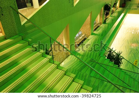 The colorful interior look of the city hall, edmonton, alberta, canada - stock photo