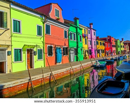 The Colorful Island Burano, Italy