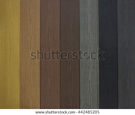 The Colorful of artificial wood for construction - stock photo