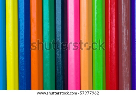 The colorful of color pencils