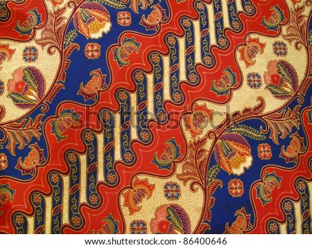 the colorful of malaysia batik - stock photo