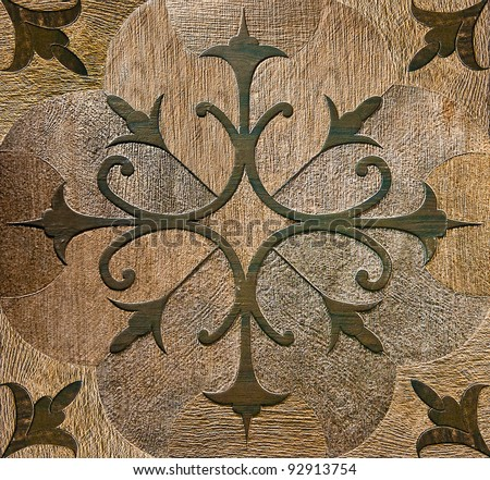 The Colorful of old ceramic floor background - stock photo