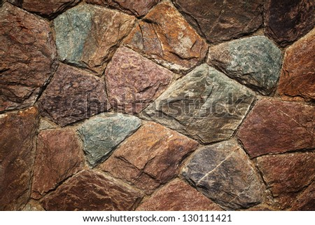 The colorful of rock wall  pattern background