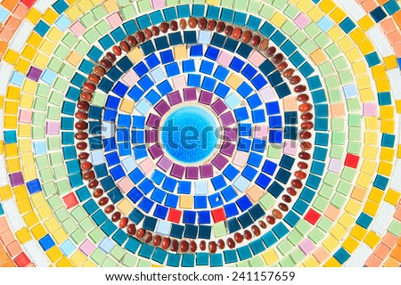 The colorful of tiles