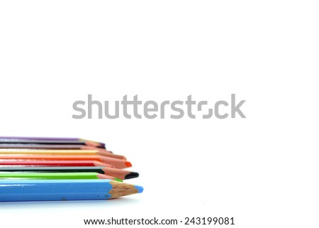 The Colorful Pencil - stock photo