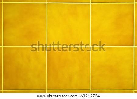 The Colorful vintage  ceramic tiles wall decoration - stock photo
