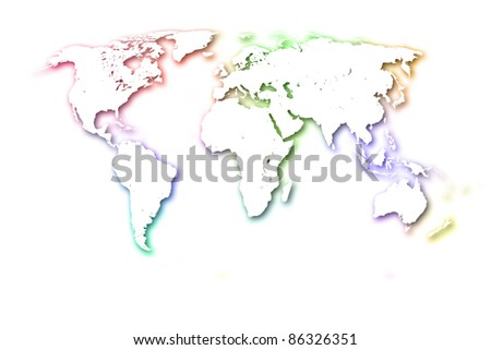 The Colorful World Map. - stock photo