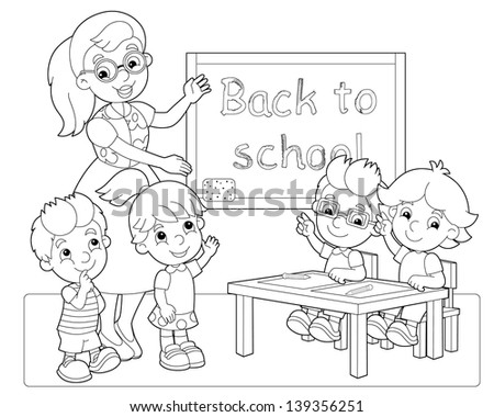 The coloring page - illustration for the children - stock photo