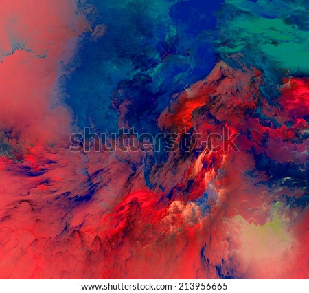 The colors in the series, Fancy paint. Background consists of fractal color texture and is suitable for use in projects on imagination, creativity and  - stock photo