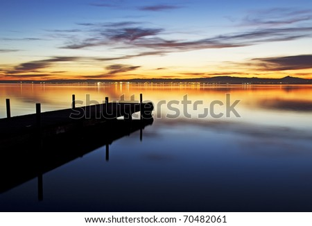 the colors of the night - stock photo