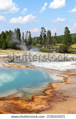 The Colors of Yellowstone  - stock photo