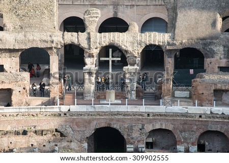 The Colosseum in Rome - February 21, 2015