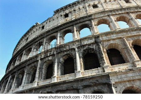 The Colosseum in Rome, Italy.Flavian Amphitheatre is one of Rome's most popular tourist attractions and a famous landmark in Rome.