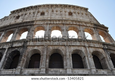 The Colosseum or Coliseum (Colosseo) in Rome