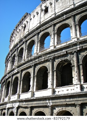 The Colosseum, or the Coliseum - stock photo