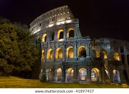The Colosseum,  Rome at night - stock photo