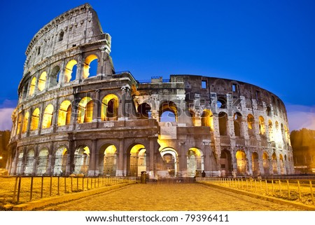 The Colosseum - Rome - Italy - stock photo
