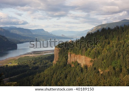 The Columbia River Gorge OR. - stock photo