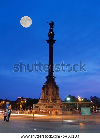 The Columbus Status in the Barcelona, Spain - stock photo