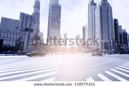 The commercial center of Shanghai, China