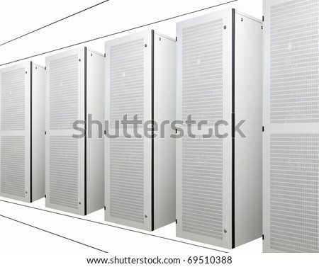 The communication and internet network server - stock photo