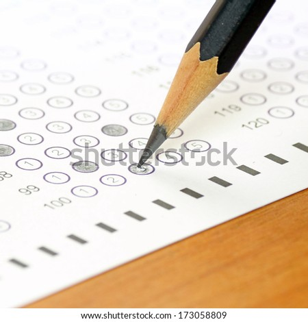 The competitive exams to measure learning - stock photo