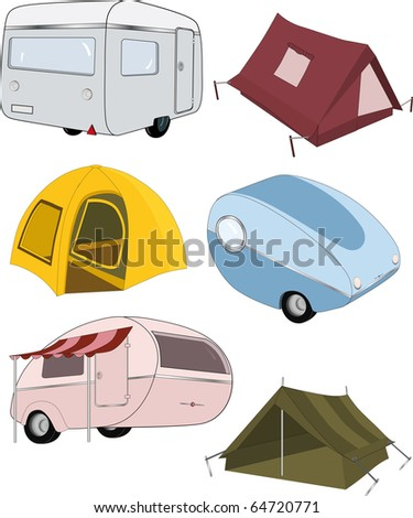 The complete set camping Raster version