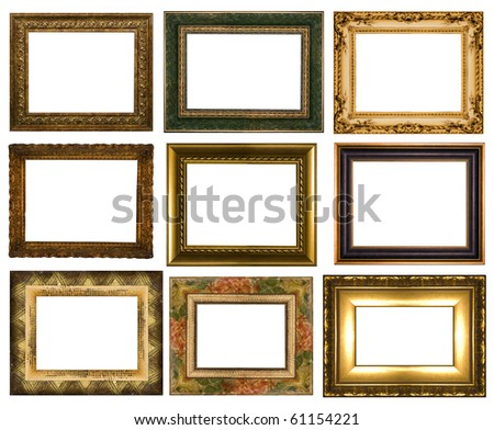 The complete set from nine frameworks - stock photo