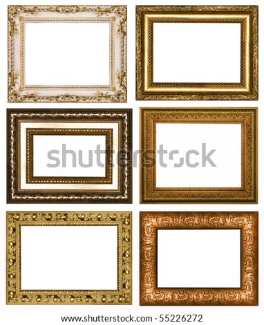 The complete set from six frameworks - stock photo