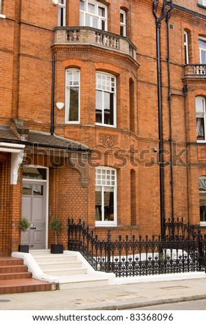 The composer known as Peter Warlock, real name Philip Heseltine (1894 - 1930) lived in this Victorian townhouse in Chelsea, London.  He died in this building of gas poisoning. - stock photo