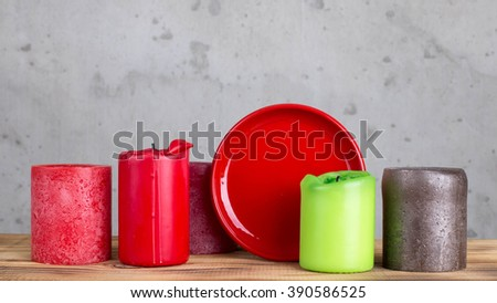 The composition of decorative candles. - stock photo