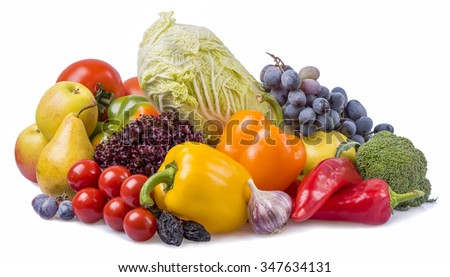 the composition of fruits and vegetables with plums